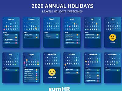Calendar  Design 2020 illustration policy 2020 creative