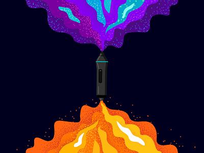 Exploring Design Space mind designer illustration contest wix playoff explore