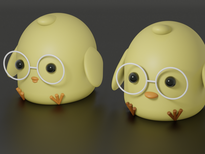 3D Baby chickens cute animals baby chickens art blender illustration 3d art 3d