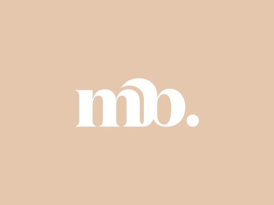 Lettermark  Concept mark logotype minimal bold font branding logo typography letter b m lettermark