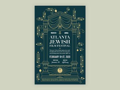 Film Festival Poster Design typography branding linear illustration illustration monoline linear poster design poster