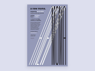 Poster Concept Project title minimalist typography contemporary modern moma branding project poster