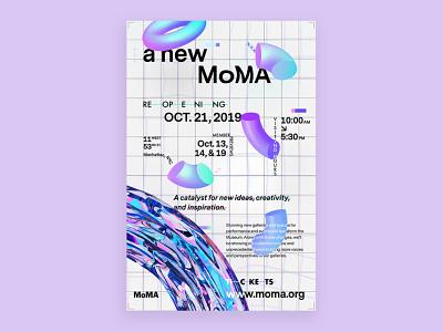 Poster Concept typography abstract grid modern flyer event design poster shapes renders cinema4d 3d design 3d