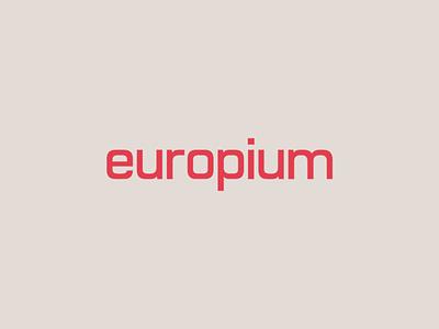Europium Wordmark monospace tech sans-serif design custom typography type logo wordmark