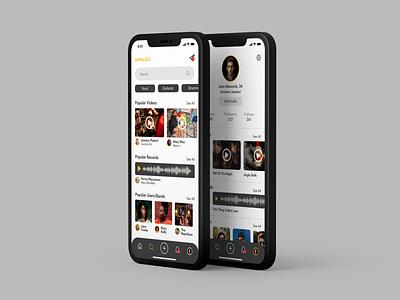 Music App Search and Profile search soundwave recording profile profile page mobile app video music