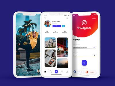 The Old Instagram mobile app take photo sign up post profile instagram