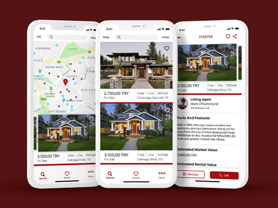 Home App real estate app real estate search mobile app buy house house rent rent house home