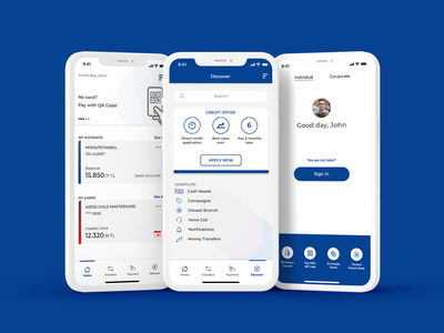 Banking App discover sign in credit profile balance search mobile app banking