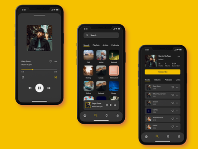 Daily UI #09 - Music Player search musician pause play mobile app music player app music app music player ui music player