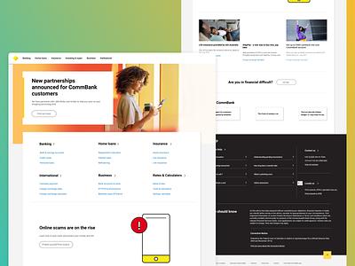 CommBank.au redesign product design redesign graphic design web design