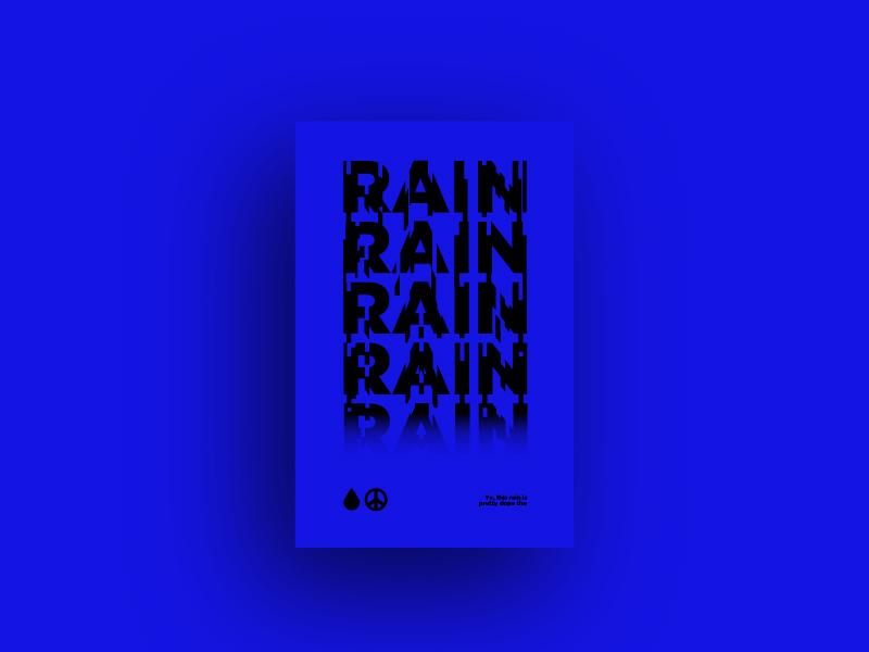 Quick Whip #31 gotham black poster blue rain typography quickwhip