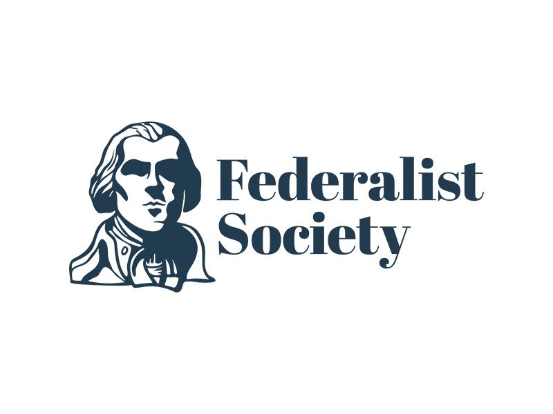 Federalist Society Logo duo tone contrast mark government face logo