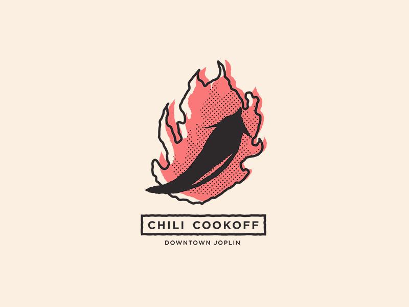 Local Chili Feed Mark mark icon symbol event cookoff chili rough logo mark