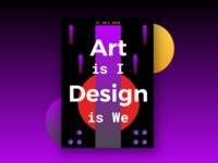 Art vs Design - #2 of UXD Poster Series