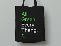 The Greenest Point tote