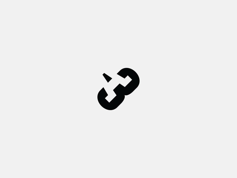 A3 branding vector design white letter icon negative space black simple logo