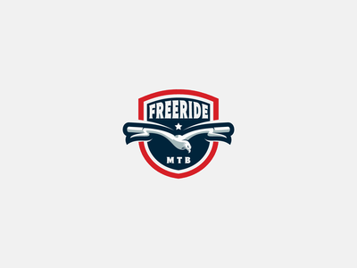 freeride ride movement speed freedom handlebar eagle freeride free outdoor cycling mtb illustration animal logo