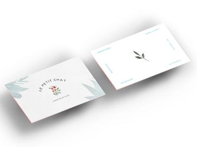 Le Petit Chat graphic design branding