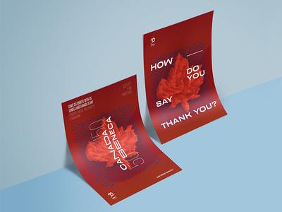 Canada150Seneca graphic design poster
