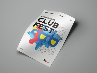 Club Fest Poster graphic design poster
