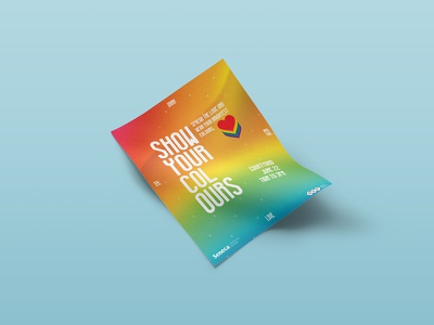 Show Your Colours graphic design poster