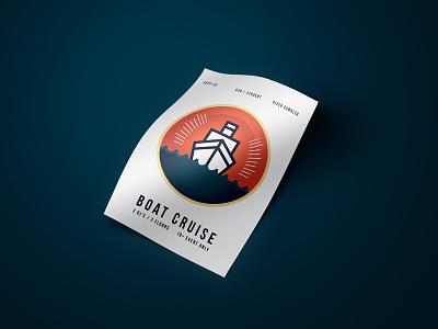 Boat Cruise graphic design poster