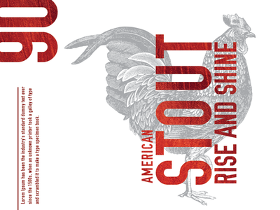 Red Rooster Brewery Label beer graphic design
