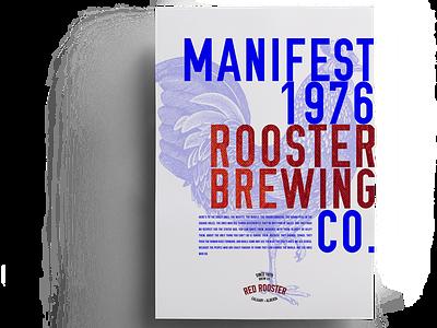 Manifest poster graphic design