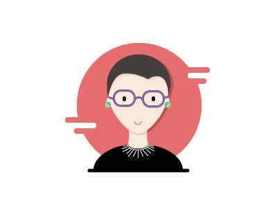 Ruth Bader Ginsberg illustration notorious rbg