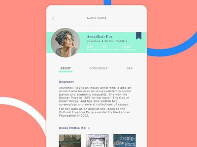 Author Profile daily ui goodreads user profile