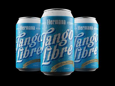 Hermana Craft Beer – Tango Libre can type lettering alexandre fontes argentina craft beer cerveja embalagem package cinema 4d 3d
