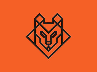 Symbol experiment for Matilha Studio animal alexandre fontes wolfgang matilha logo lobo dog wolf icon symbol geometric