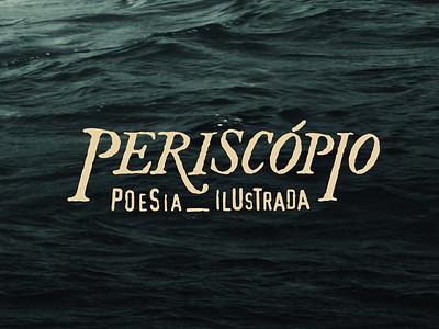 Periscopio Poesia Ilustrada illustrated visual arts poet poem logotipo logo poetry rustic handmade logotype