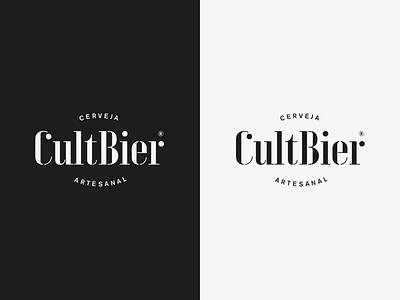 Cultbier Logo bier craft logotipo cerveja artesanal craft beer beer design alexandre fontes brand type logotype logo