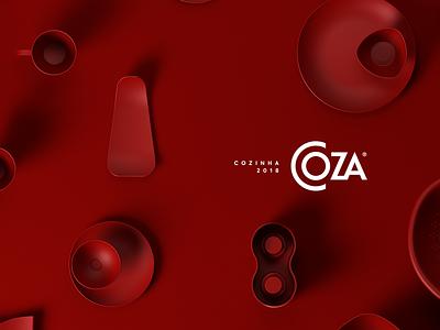 Coza Cozinha 2018 art direction kitchen table topview render plastic rafael eifler alexandre fontes coza product c4d cinema-4d cinema 4d 3d