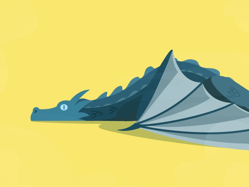 Got6: Ice dragon by acoppe on Dribbble