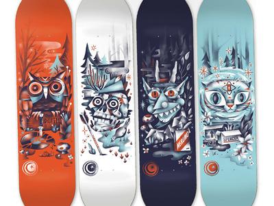 Foundation Woodwraith Skateboard Decks