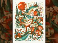 Neighborhood Critter Print