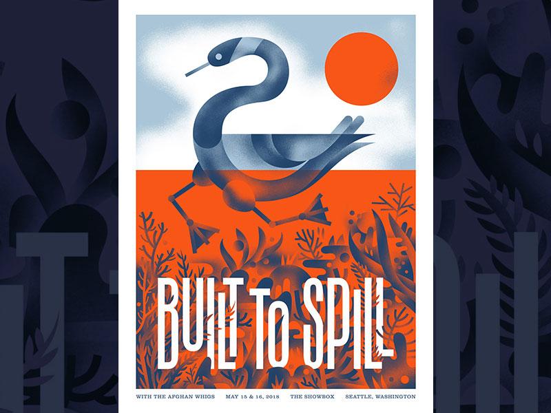Built to Spill - Seattle Wa gig poster lake goose