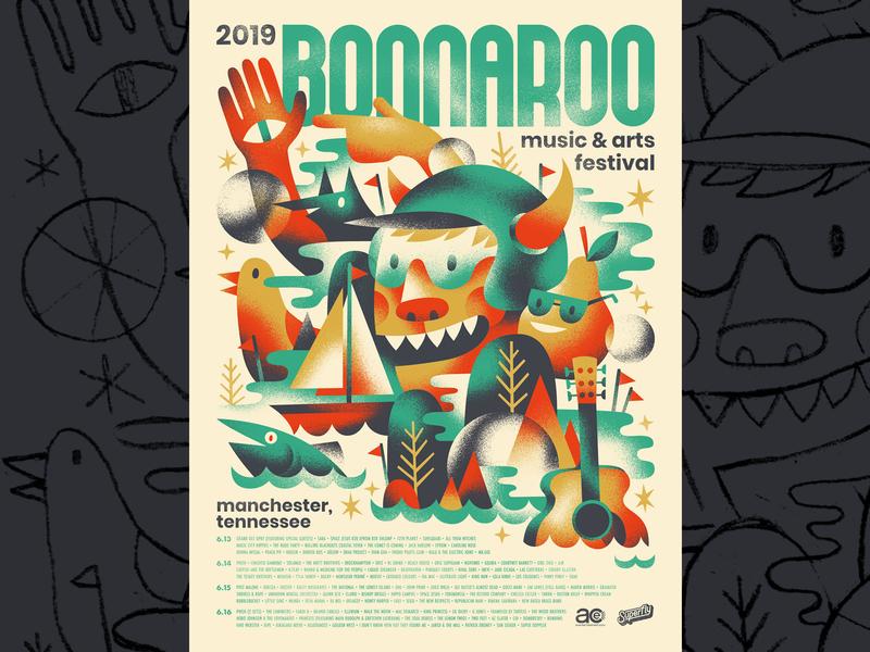 Bonnaroo 2019 festival poster music festival festival gig poster