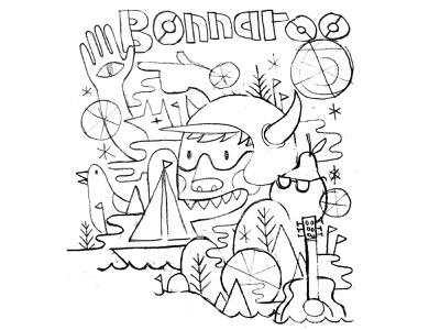 Bonnaroo Sketch ✏️✏️✏️ gig poster sketch