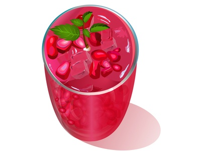 Pomegranate Juice Macro Shot