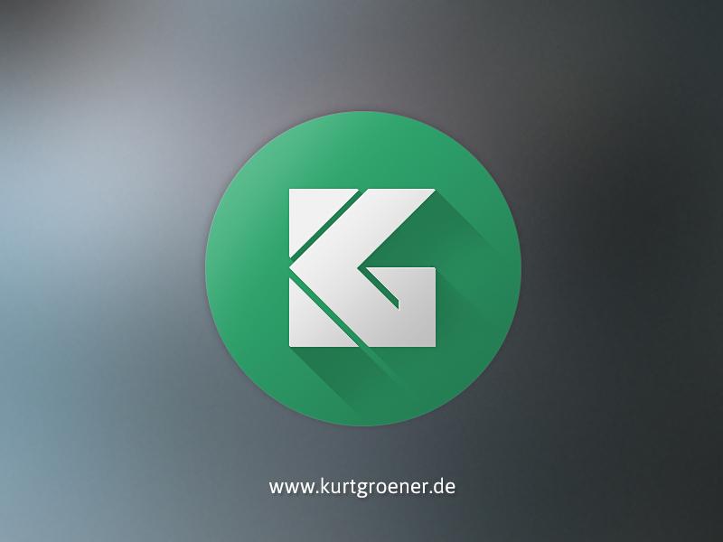 personal logodesign kurtgroener round logo design typo green rounde simple long shadow