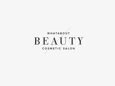 Whatabout beauty salon logo by kurt grner dribbble whatabout beauty salon logo altavistaventures Gallery