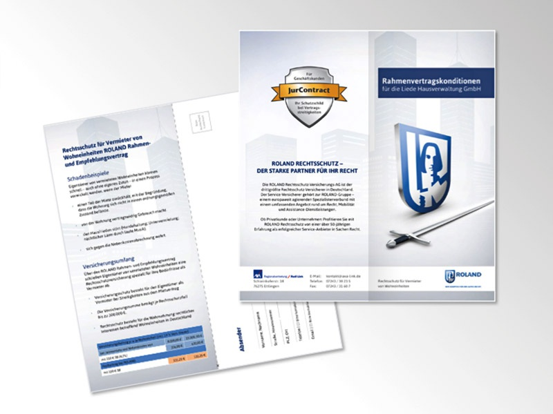 Flyer for legal expenses insurance insurance logo typo building illustration flyer print