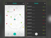 Map- and Listview for SmokyApp