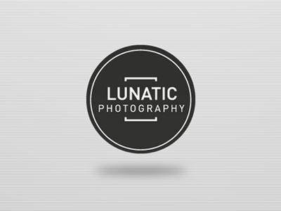 Logo from Lunatic Photography  lunatic ribbon web background pattern flap interface logo design simple clean logodesign din round photography black white kgm flat