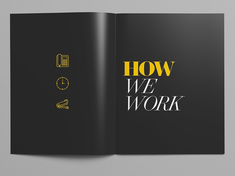 Employee Handbook magazine design branding illustration yellow type graphic design layout editorial training handbook employee
