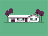 Green Retro House
