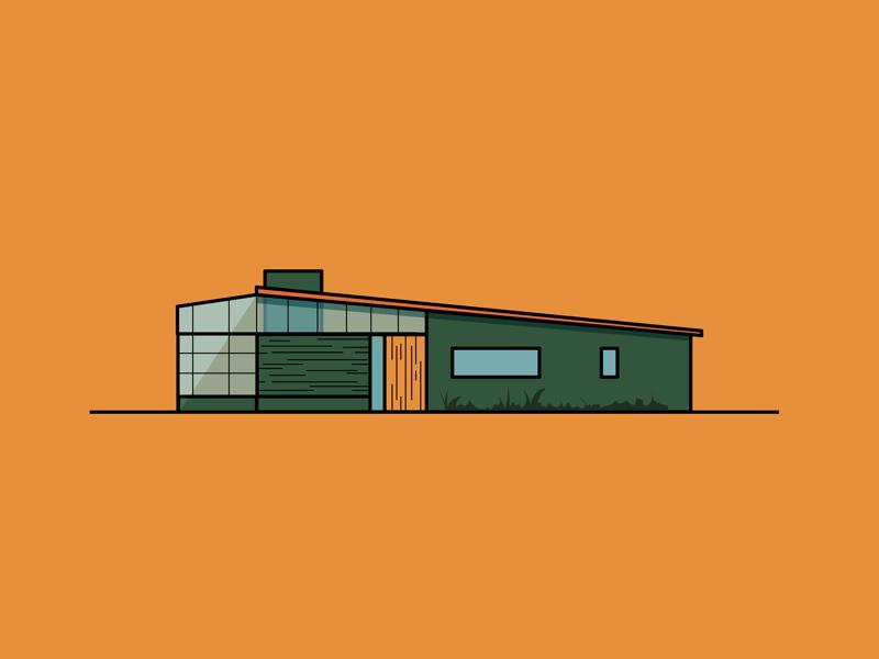 Little Green House vector house green design art illustration